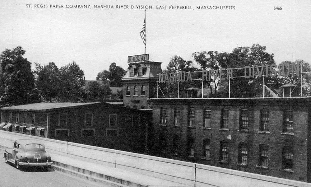 Paper Was Been Manufactured Continuously At Babbitet Falls On The Nashua For More Than 150 Years As Early 1726 A Grist Mill In Operation Here